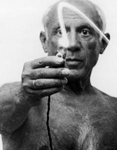 Picasso beim Malen