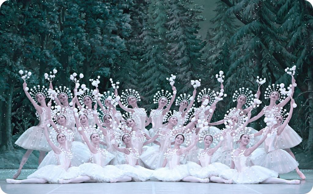 Schneeflocken im Ballett