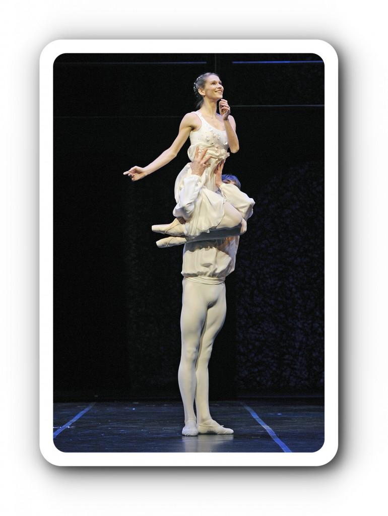 Friedemann Vogel mit Polina Semionova auf den Schultern