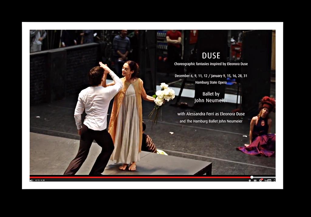 """John Neumeier kreierte ein Ballett über die """"Duse""""."""