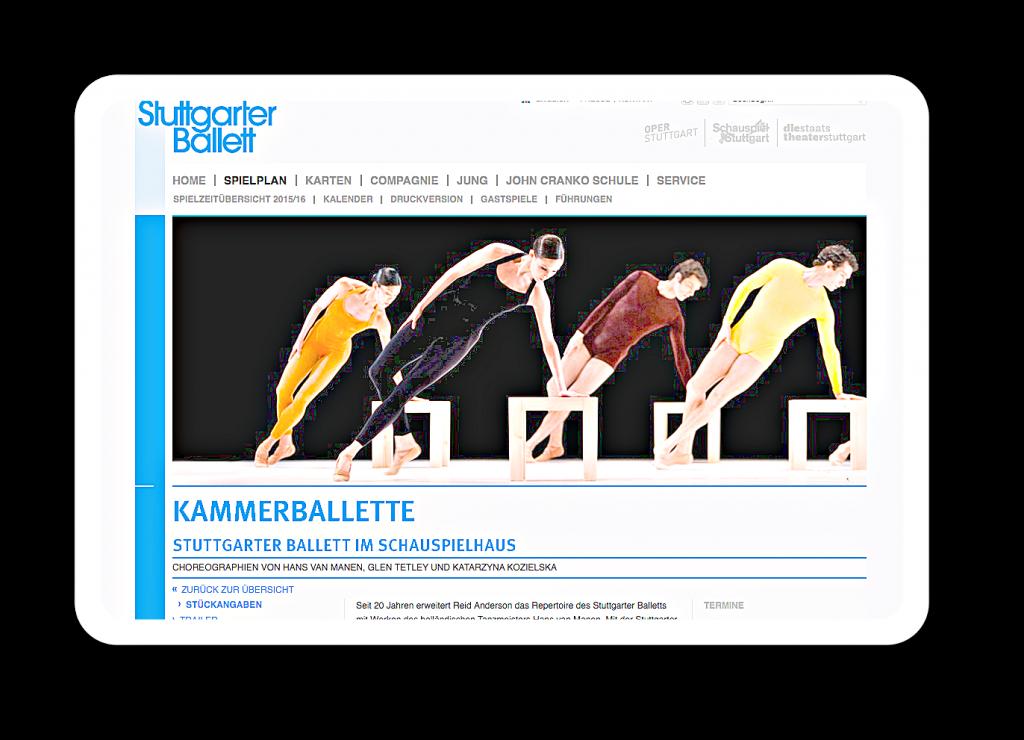 Kammerballette sind Ballette im Kleinen.