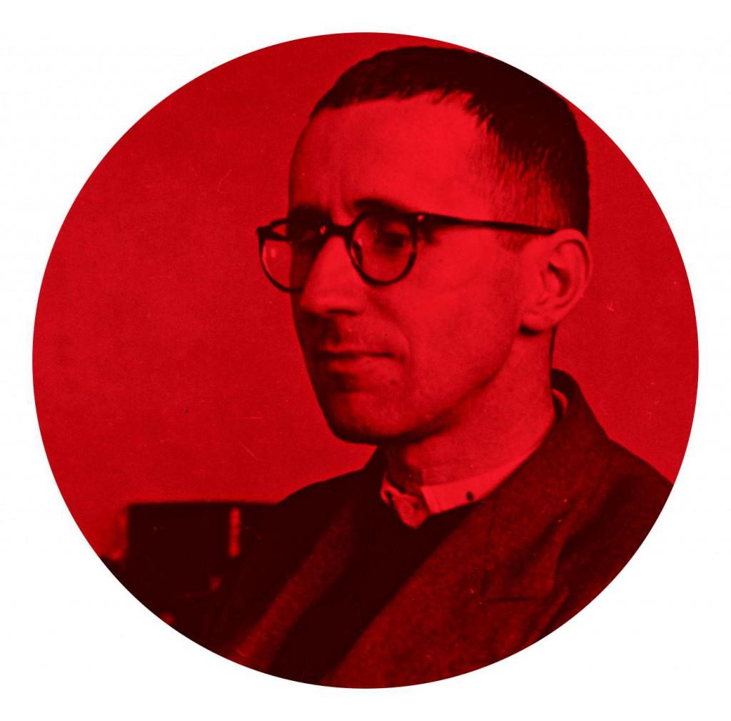 Bertolt Brecht und andere beim Weltschmerz.