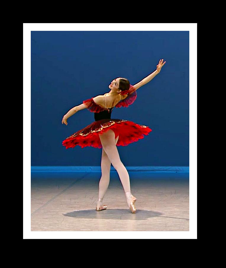 """Hier der Beginn einer schön getanzten """"Paquita"""" aus dem Halbfinale... so zu sehen beim 45. Prix de Lausanne. Videostill von concert.arte: Gisela Sonnenburg"""