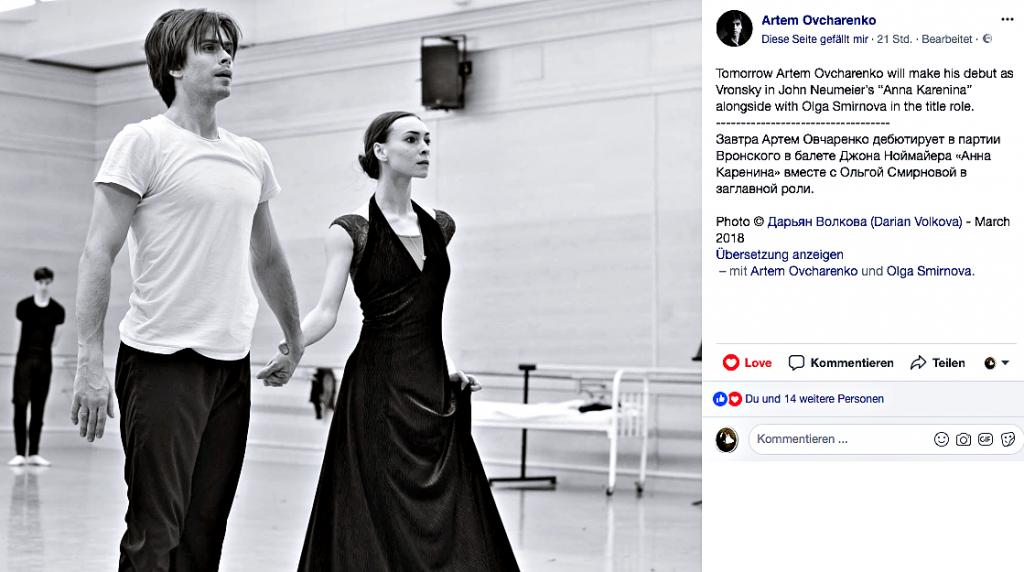 Anna Karenina von John Neumeier jetzt auch in Russland