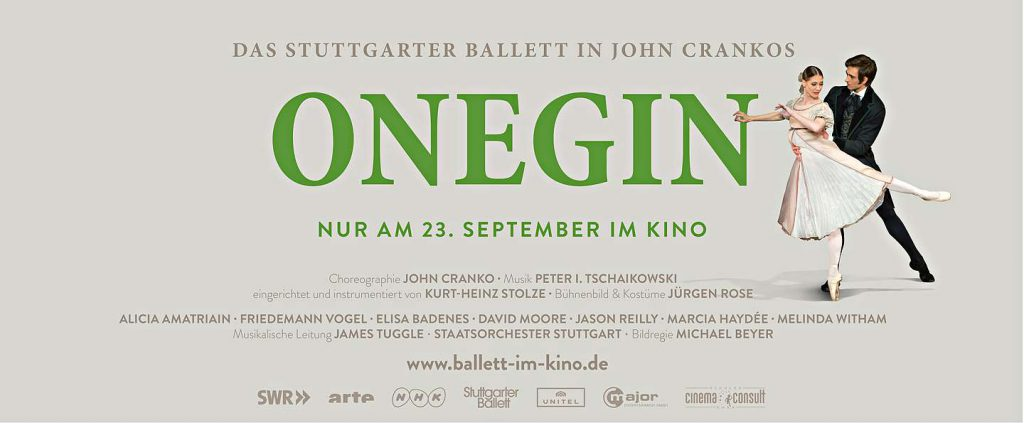 Onegin von John Cranko kommt erstmals ins Kino