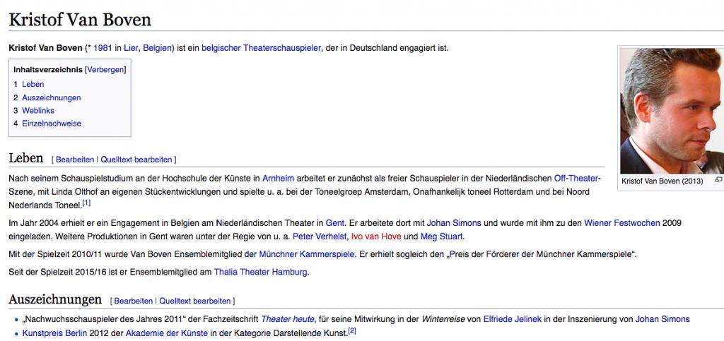 Arthur Miller beim Thalia