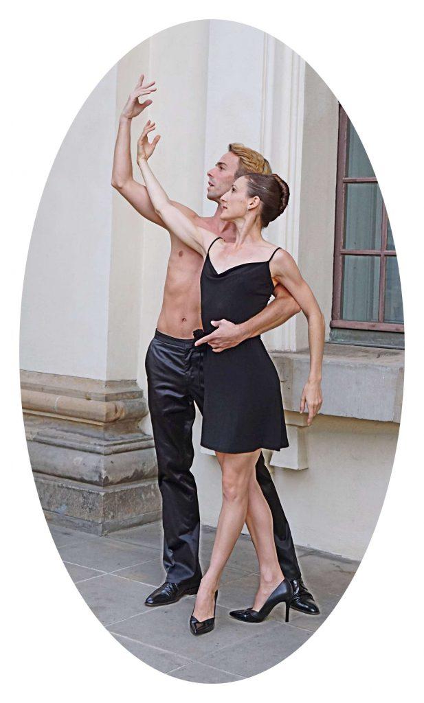 Ballerina und Ballerino auf dem Gendarmenmarkt