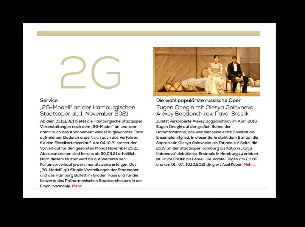 Nur noch Geimpfte und Genesene im Hamburg Ballett